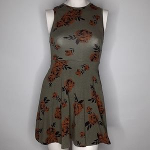 Van's floral skater dress sz xs
